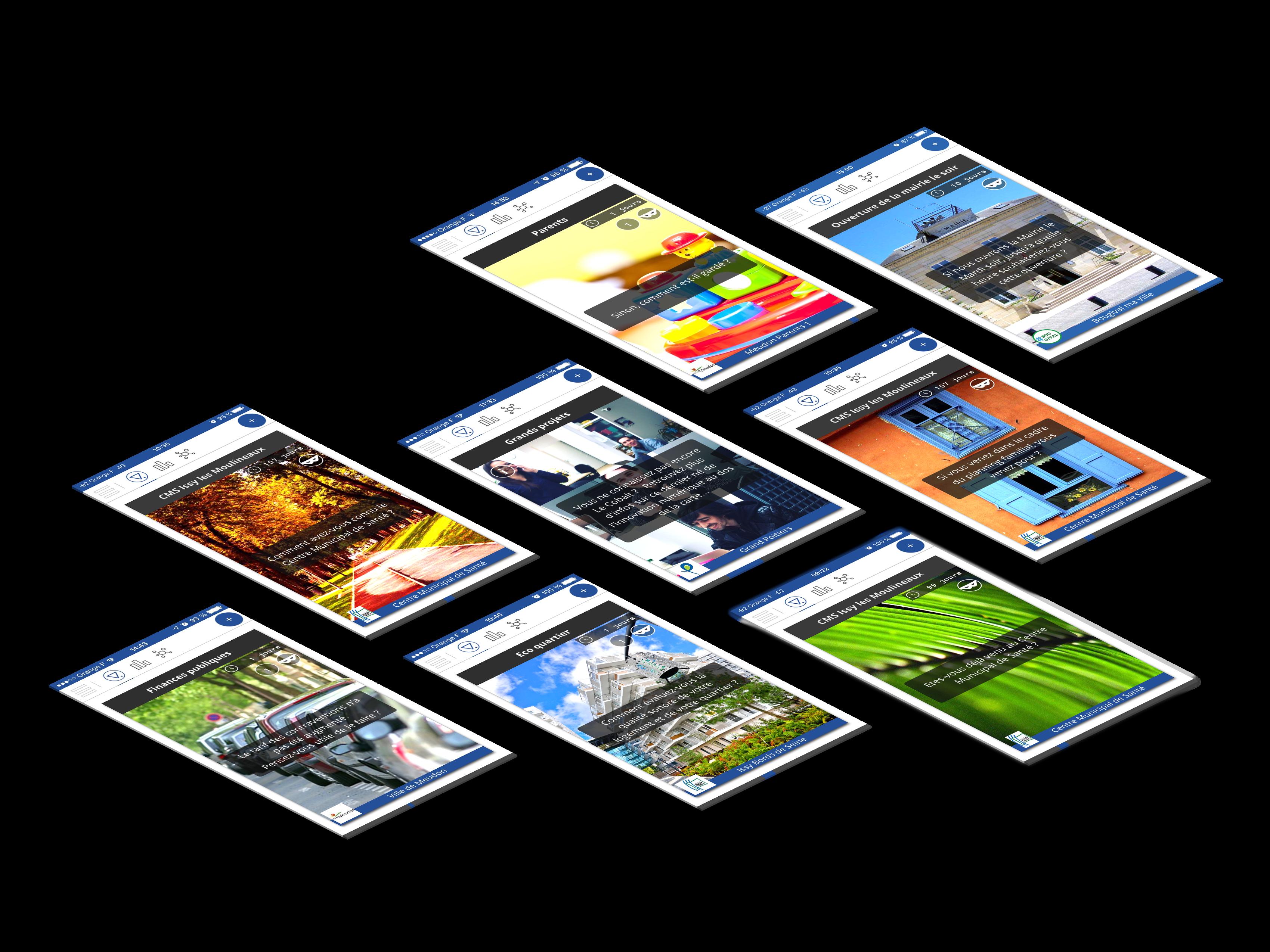 visuel application mobile et plateforme consultation citoyenne Vooter