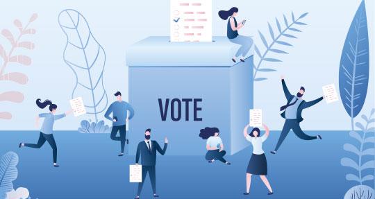 visuel illustrant le cas d'usage sur le live vooting solution de vote et de consultation citoyenne en présentiel