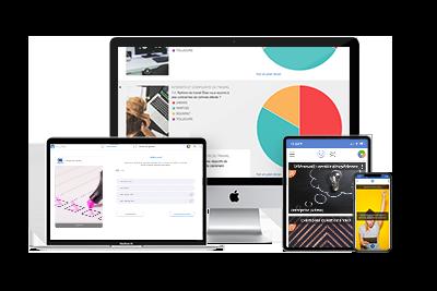 interface application mobile et plateforme de consultation citoyenne Vooter